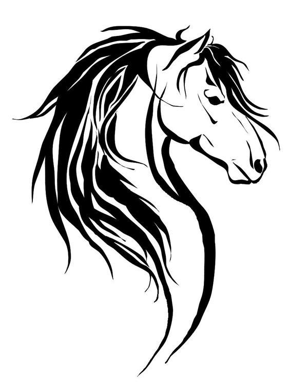 horse tattoo i by demondes on deviantart rh demondes deviantart com tribal horse tattoos designs tribal seahorse tattoos