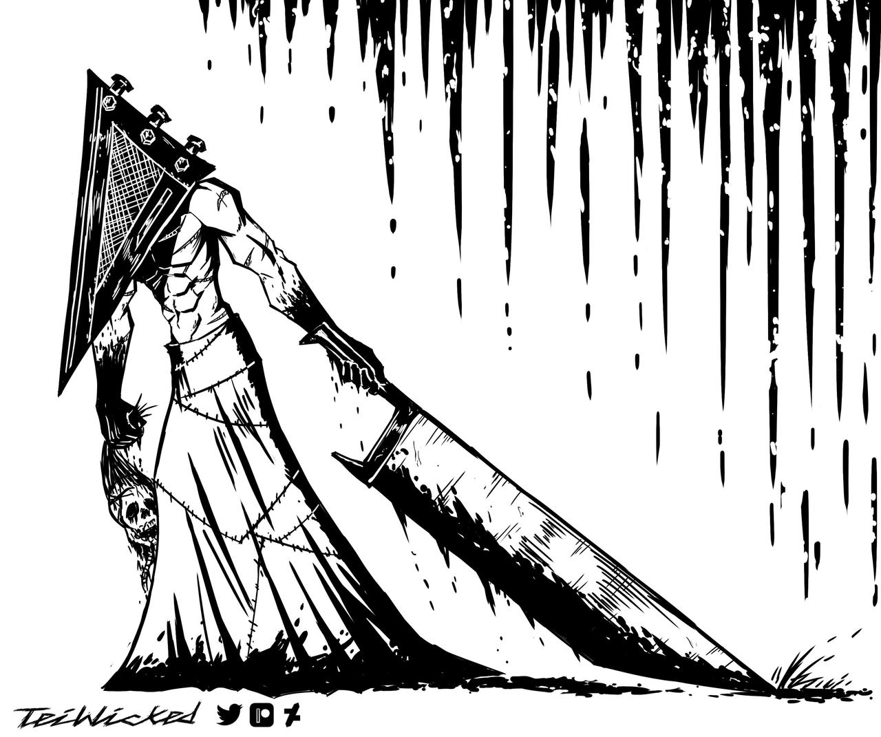 Inktober(2020) - Pyramid Head