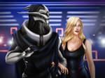 [Saren Arterius and Kirsen Shepard] Casino Arrival by LRTrevelyan