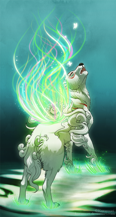 Spring summoner - Okami by Kuramuri