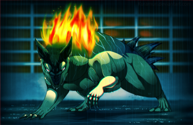 Typhlosion - Even in the deepest rain... by Pokemura