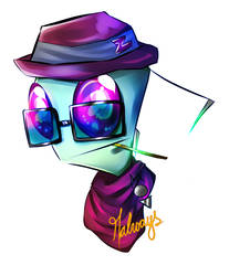 Zim Hipster by M-always
