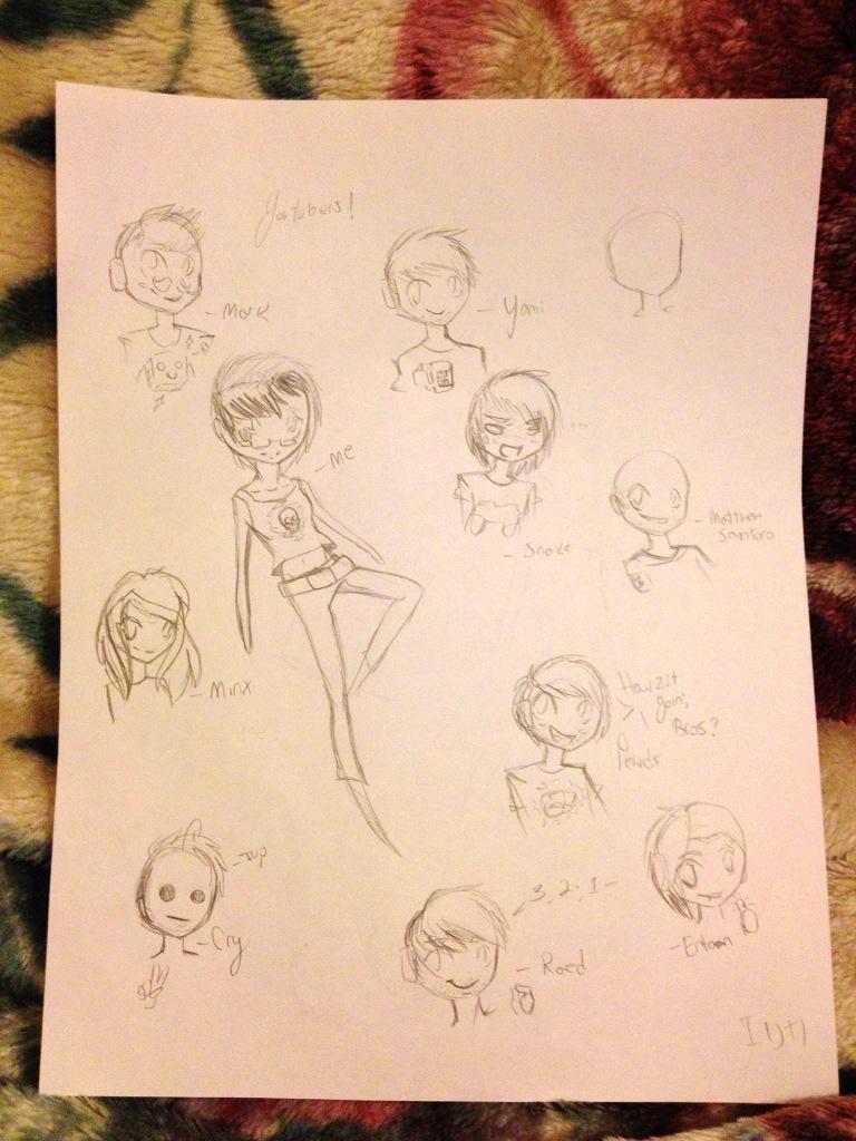 Youtuber Doodles by rctmnt