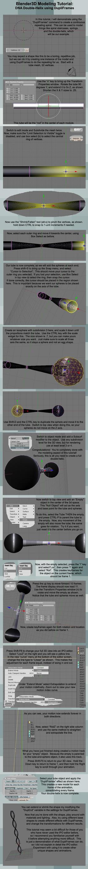 Blender Modeling: Double-Helix by Ci-Blender