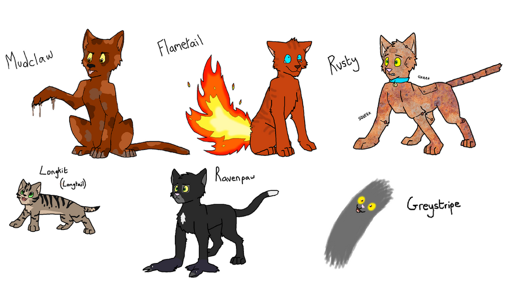 Names Of The Warrior Cats Kits