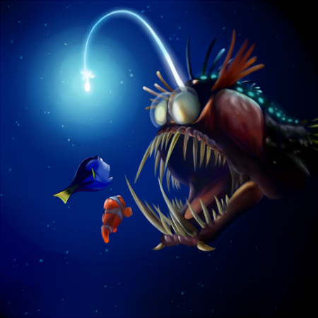 Angler fish by tintans on deviantart for What do angler fish eat