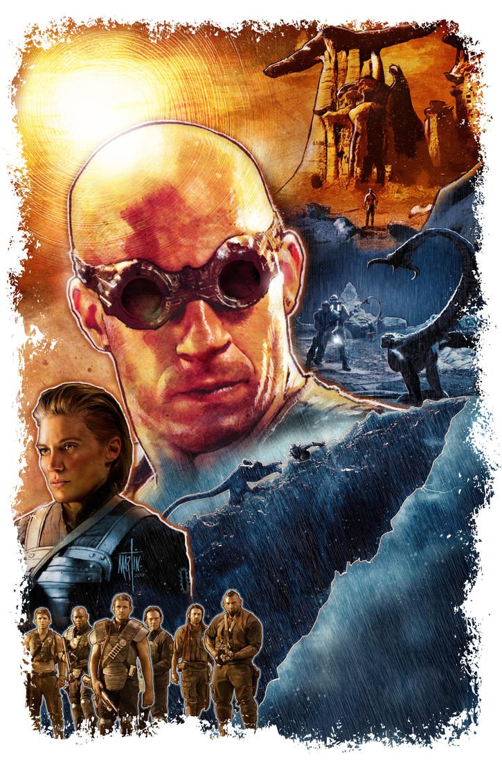 Riddick Movie Poster by dmart009