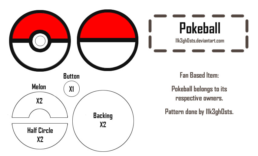 Pattern: Pokeball by l1k3gh0sts