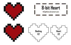 Pattern: 8-bit Heart by l1k3gh0sts