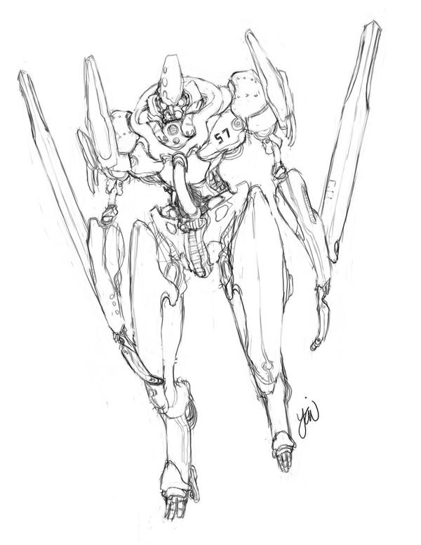Sword Mecha Sketch By Patchouli forest On DeviantArt