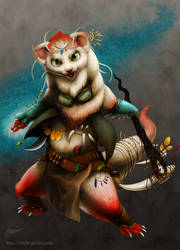 Wizard of the red ferret.