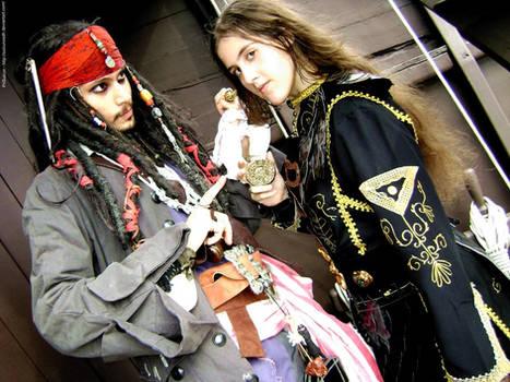 Elizabeth Swann - Jack Sparrow by PriSuicun