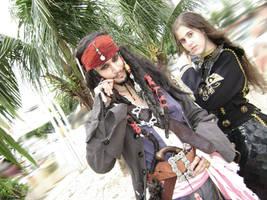 Jack Sparrow-Elizabeth Swann by PriSuicun
