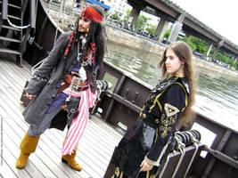 Elizabeth Swann---Jack Sparrow by PriSuicun