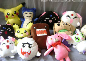 Plushies by me by PriSuicun