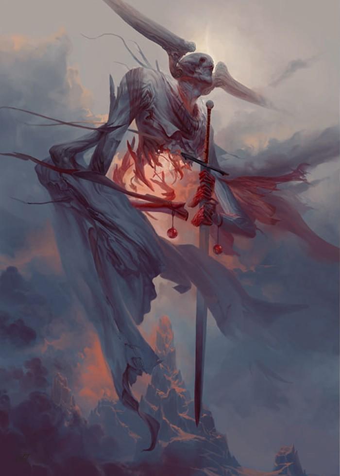 تابلو نقاشی- گوره، فرشته انتحار