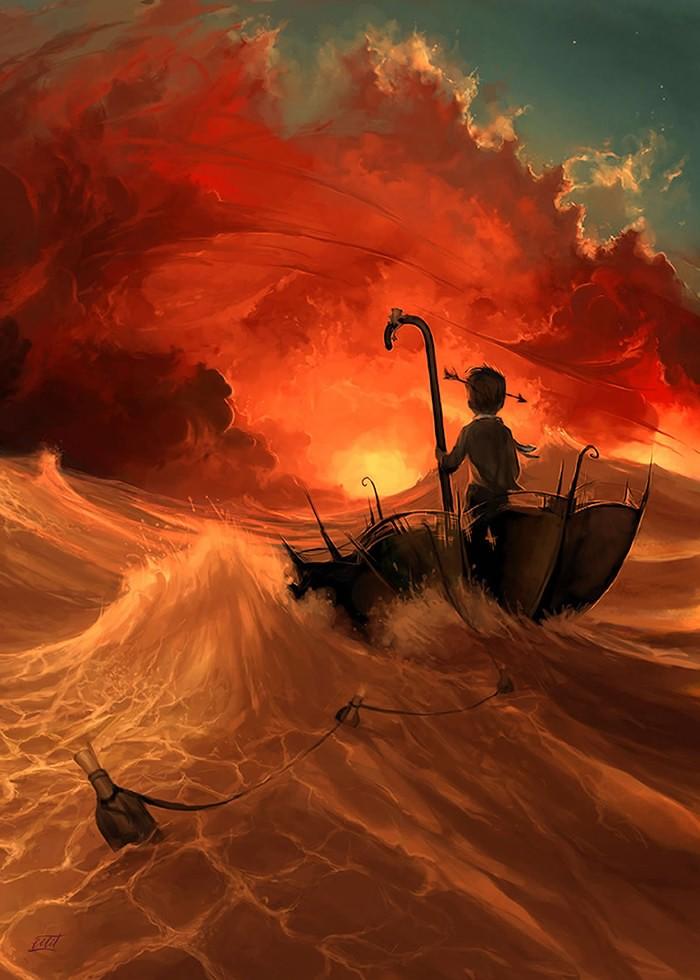 تابلو نقاشی، دل به دریا زده
