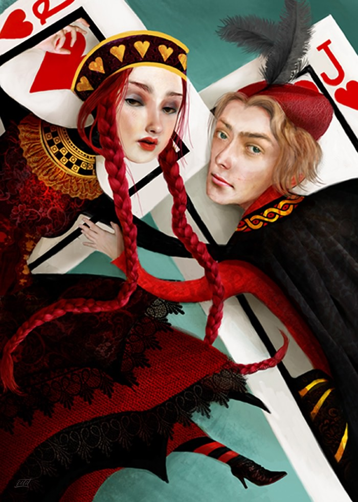 تابلو نقاشی، رابطهٔ پنهانی سرباز و ملکه