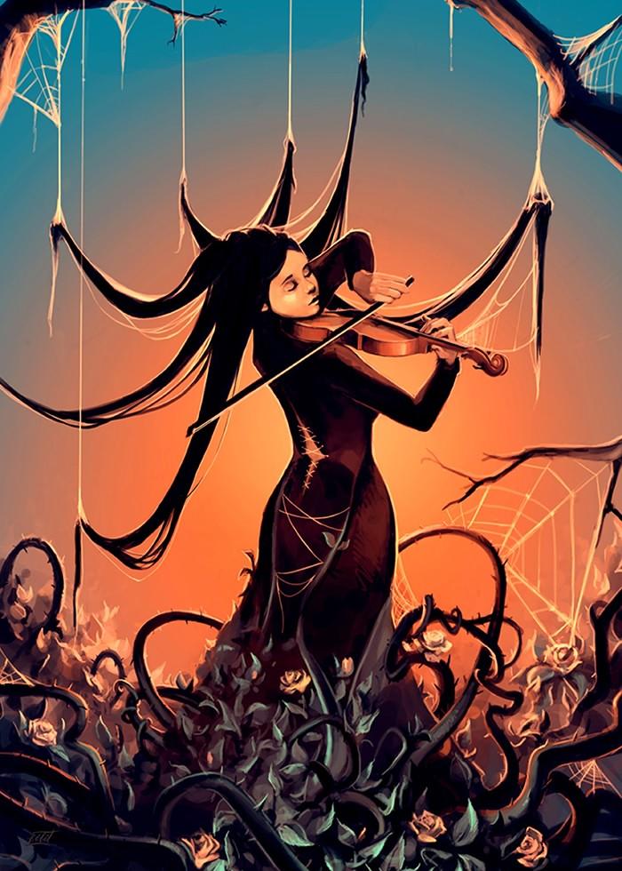 تابلو نقاشی، نوازنده ویولون