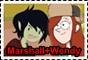 Marshall Lee and Wendy stamp by Gyngerr