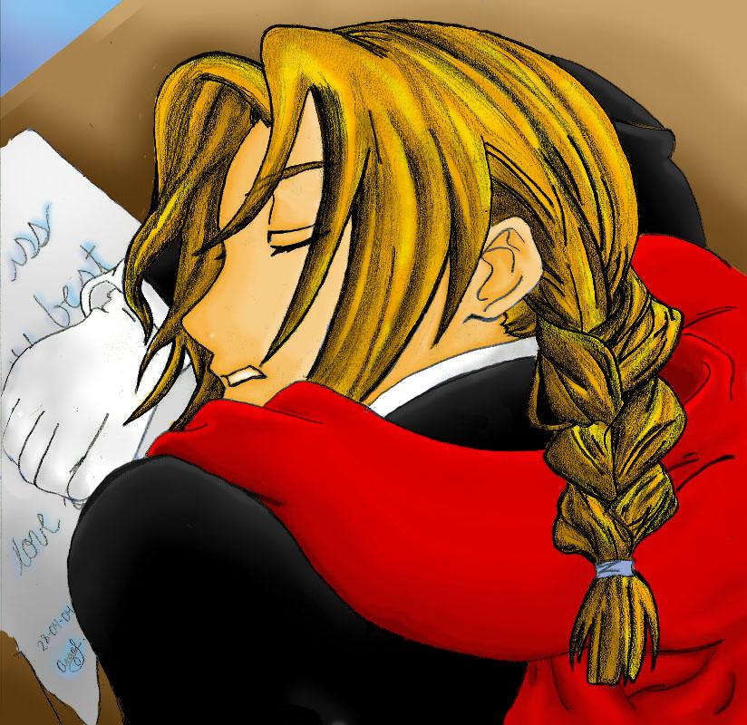 Edward Elric sleeping ...