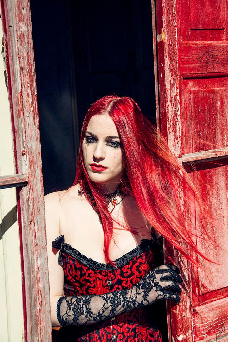 Beauty in the Red Window by JulietGarcia