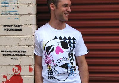Retro Skull T-shirt Guys by wooshka