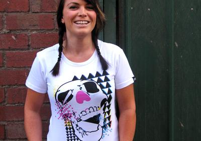 Retro Skull T-shirt Girls by wooshka