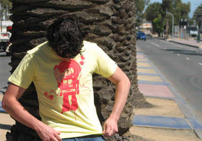 robot city T-shirt Guys by wooshka