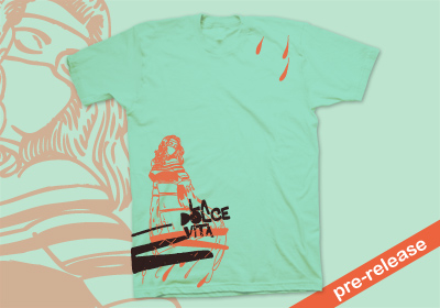 La Dolce Vita T-shirt by wooshka