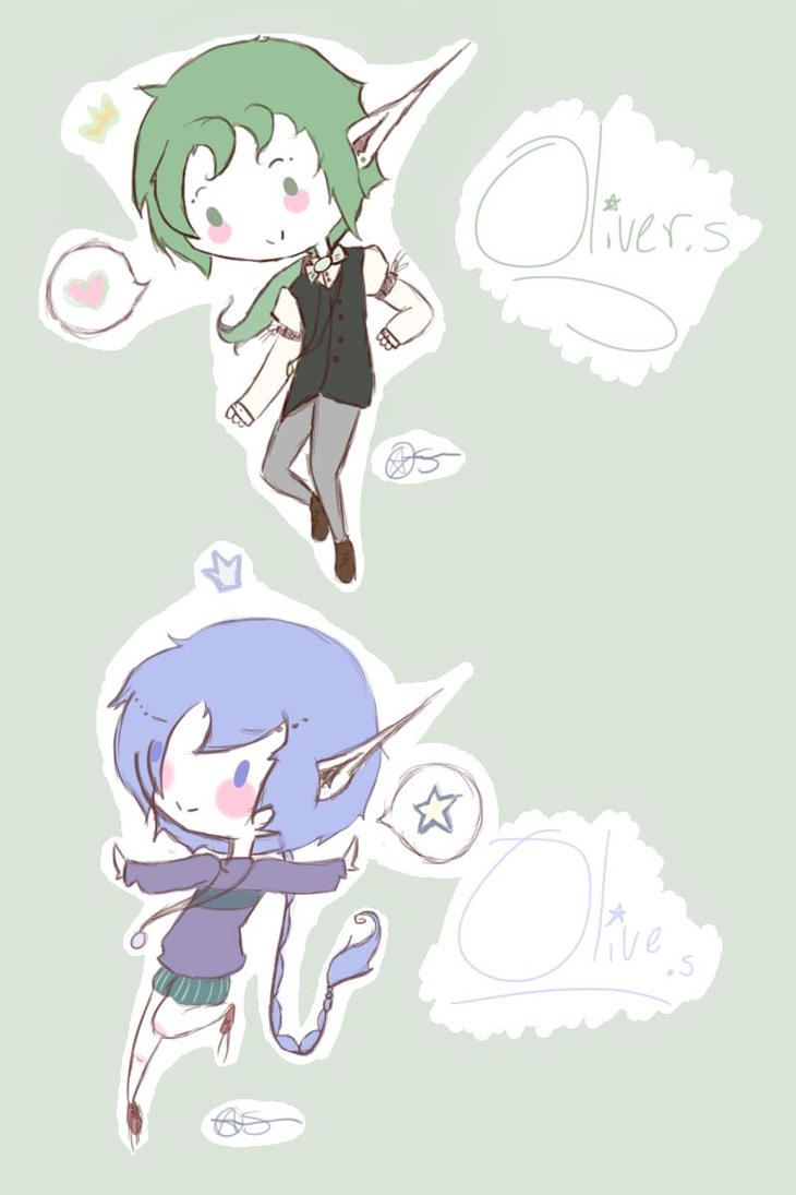chibi us! by Ask-Olive-And-Oliver