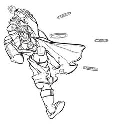 Steampunk Superhero lineart