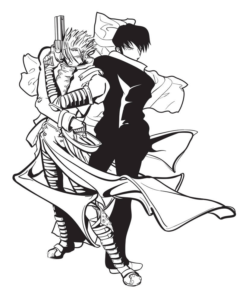 Vash and Wolfwood by Bluesrat