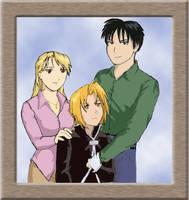 A Family Portrait - colored by Bluesrat