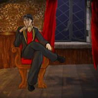 Portrait in the Study by Bluesrat