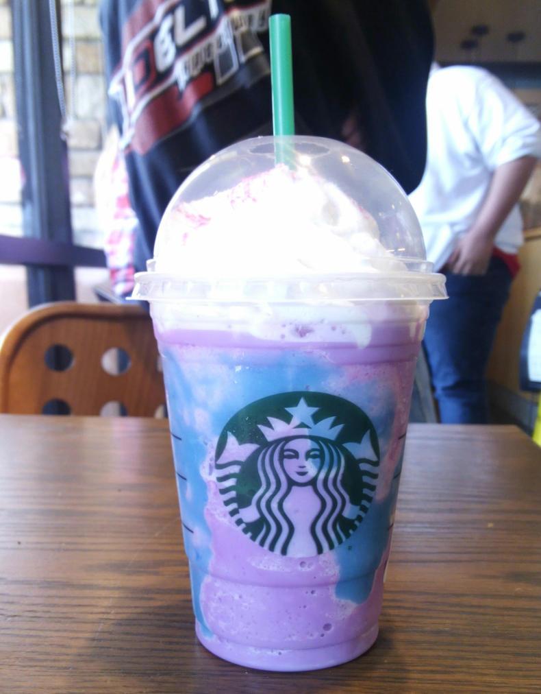 i got the Unicorn Frappuccino at Star Bucks by mariogodzilla77865