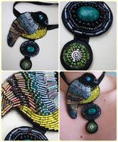 bird collarette by did-i-dream