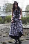 Plaid Dress Stock