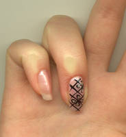 Nail-art - BlackAndPink by Shangova