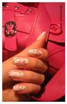 Escada.Pink flower-2 -nail-art