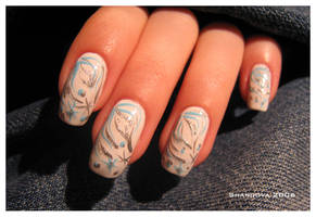 Winter-3 -nail-art by Shangova