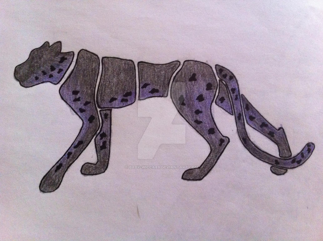 Black Panther Tattoo Design by baby-wicca89