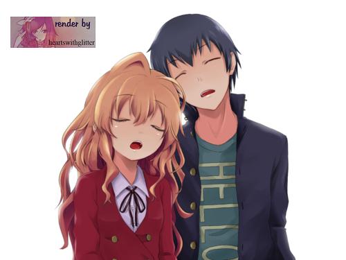 Aisaka Taiga y Takasu Ryuji by heartswithglitter