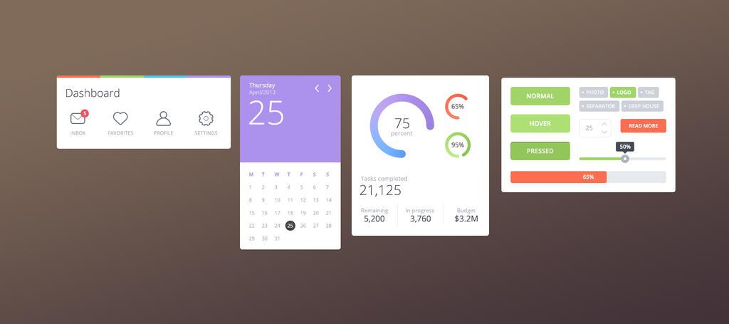 Flat UI Design by Firosnv
