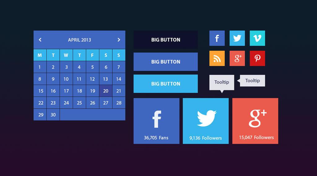 Calendar UI by Firosnv