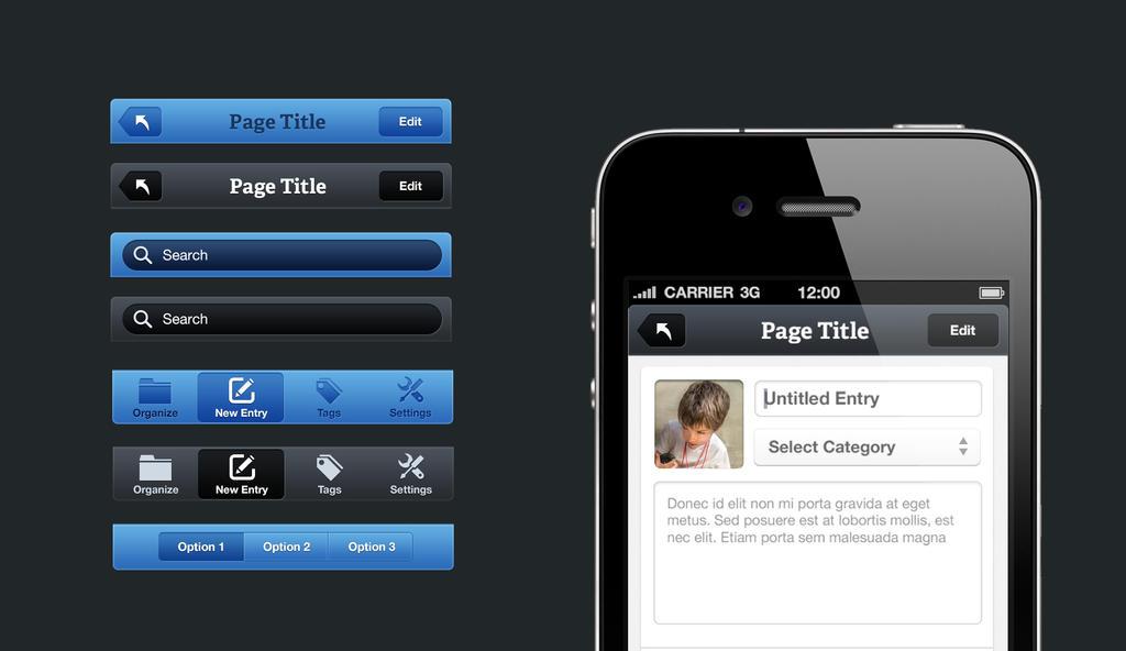 IPhone Header UI by Firosnv