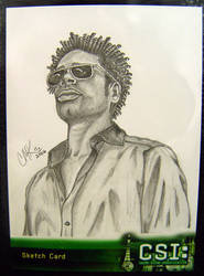 CSI Sketch Card- Warrick by LatentArtist