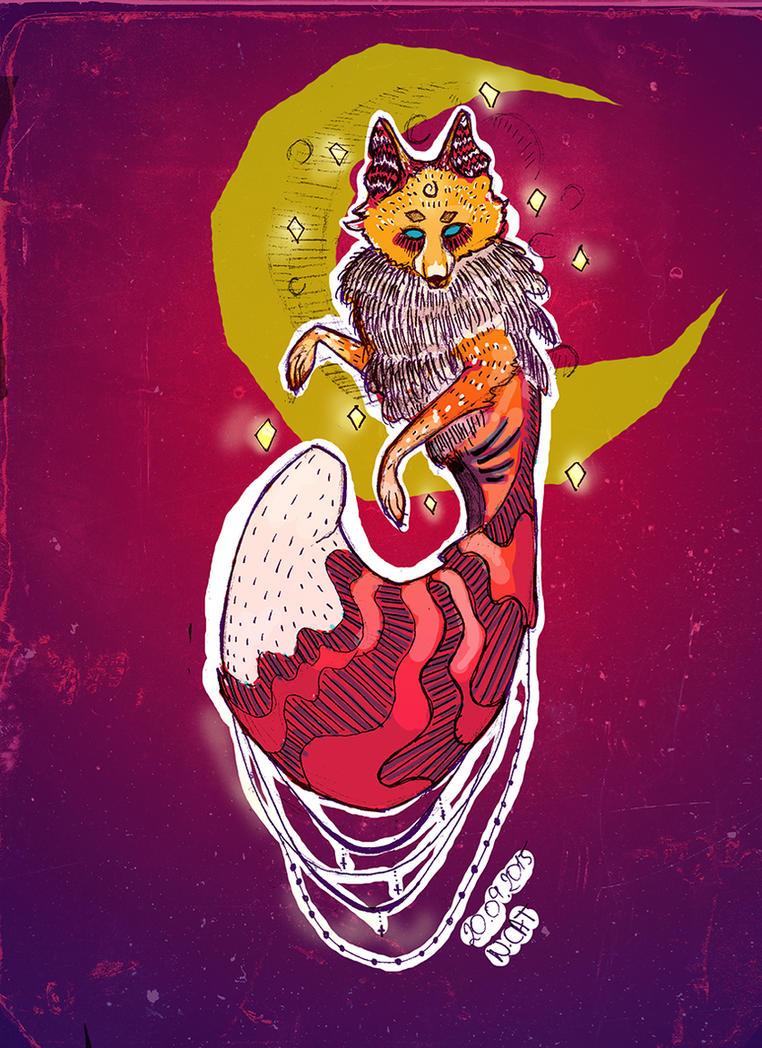 Lunar Fox by NazzCat