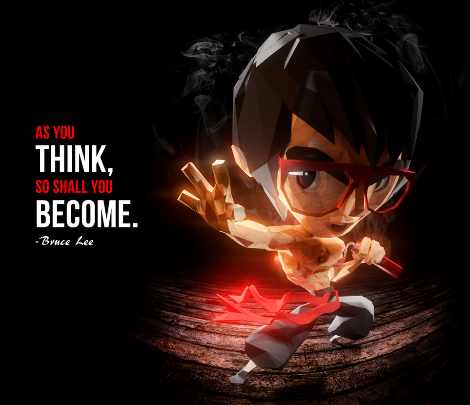 Bruce Lee W Quote by reynante