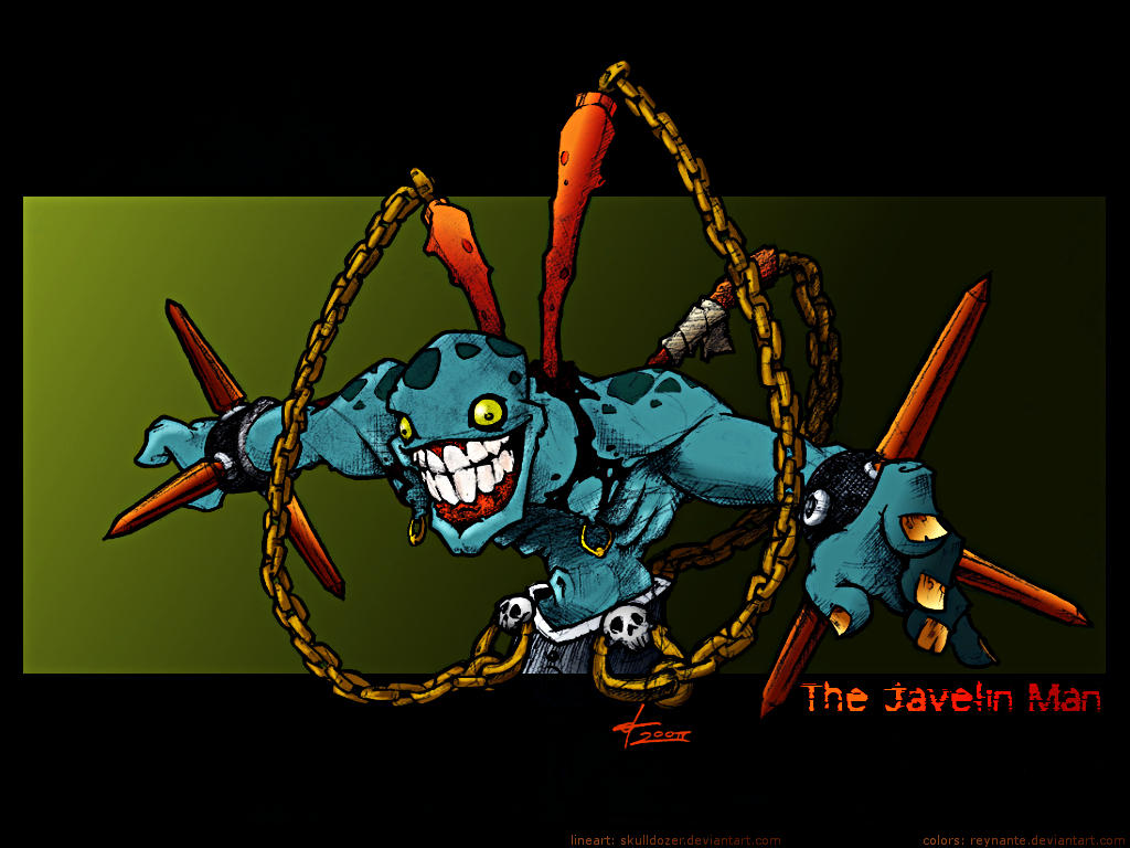 The Javelin Man - collab by reynante